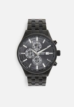 Sekonda Big Link Watch Black