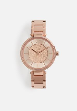Armani Exchange Dress Watch Rose Gold