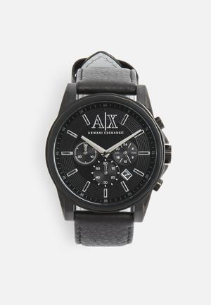 Armani Exchange Dress Watch Black