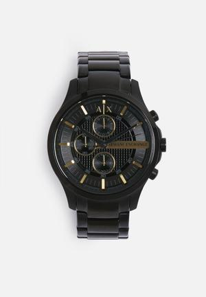Armani Exchange Dress Watch Black & Gold