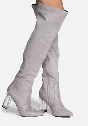 Daisy Street Monica Boots Grey