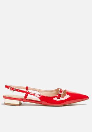 Gino Paoli Pointy Slingback Pump Red