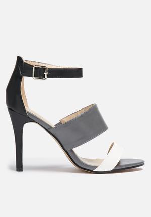 Gino Paoli Two Tone Heel  Grey & Black