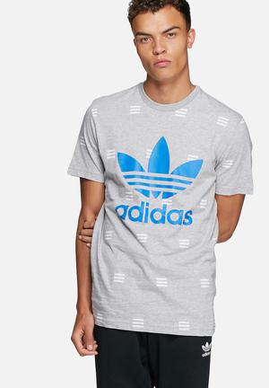 Adidas Originals Nmd Three Stripe Tee T-Shirts Grey