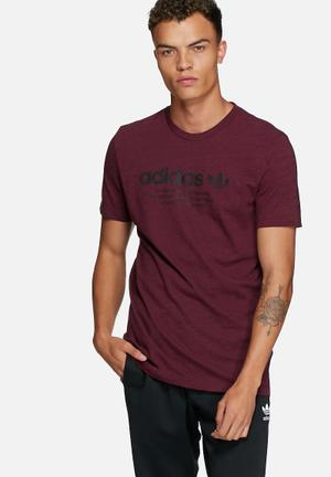Adidas Originals PT Tee T-Shirts Maroon