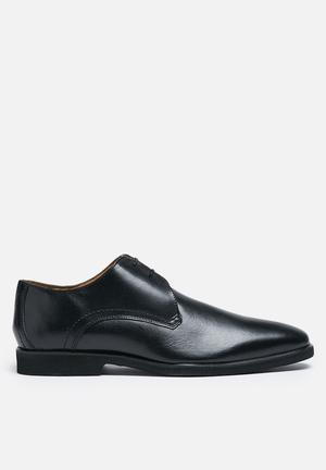 Watson Shoes Clovis Leather Derby Formal Shoes Black