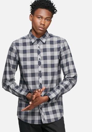 Jack & Jones CORE James Slim Shirt Navy & Grey