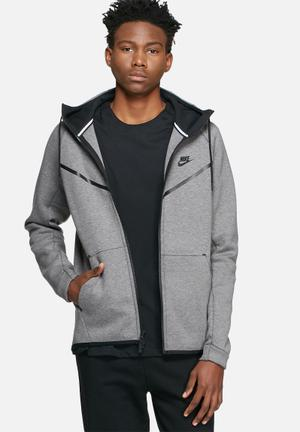 Nike Tech Fleece Windrunner Hoodies & Sweatshirts Grey & Black