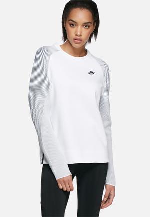 Nike Tech Fleece Crew Mix Hoodies & Jackets White
