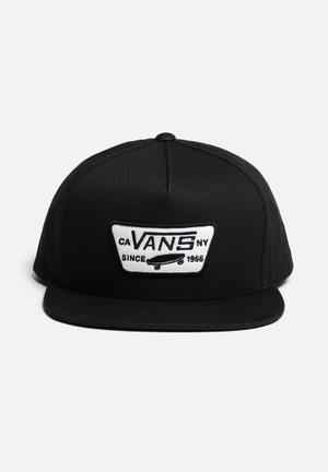 Vans Full Patch Snapback Headwear Black & White