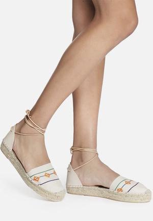 Espadril Inca Crema Pumps & Flats Cream & Orange