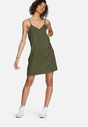 Dailyfriday Slip Dress Casual Khaki