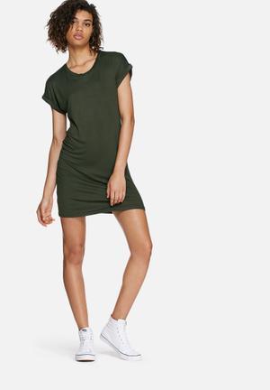 Turn-up tee dress