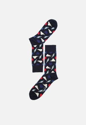 Happy Socks Storm Sock Navy