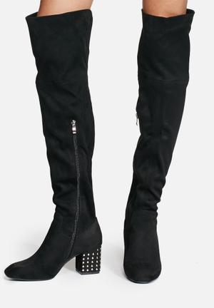 Daisy Street Shelley Boots Black