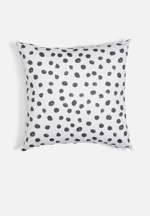 Sixth Floor Dotty Printed Cushion Cotton Twill