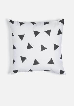 Sixth Floor Cosmo Triangles Printed Cushion Cotton Twill