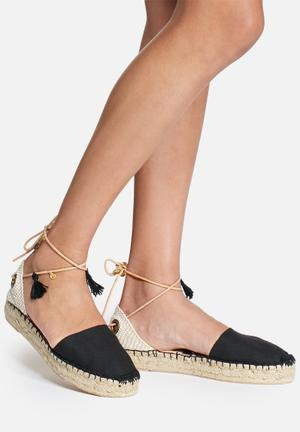 Espadril Pom Pom Negra Pumps & Flats Black & Cream