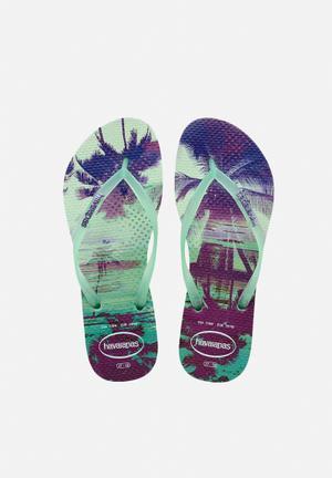 Havaianas Slim Paisage Sandals & Flip Flops Green