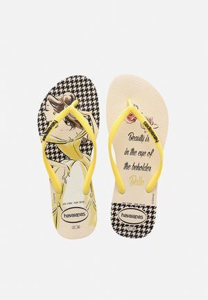 Havaianas Slim Princesas Sandals & Flip Flops Beige / Yellow
