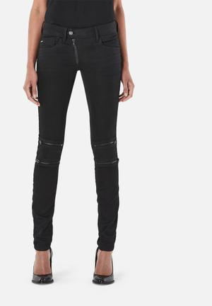 G-Star RAW Lynn Zip Mid Skinny Jeans Black