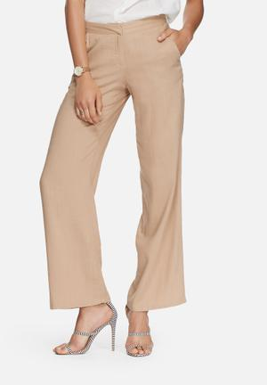 Vero Moda Lanna Wide Pants Trousers Beige