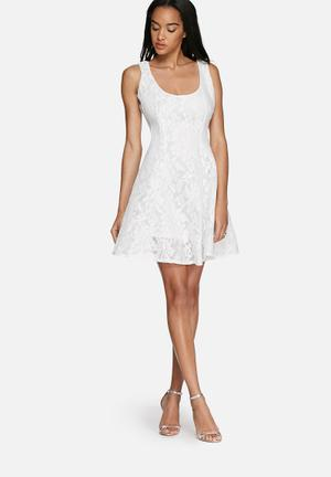 Glamorous Lace Dress Occasion White