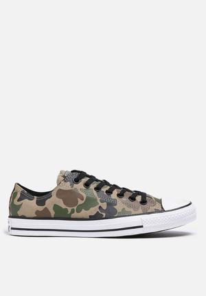Converse Chuck Taylor All Star Low Camo Sneakers Jute / Black