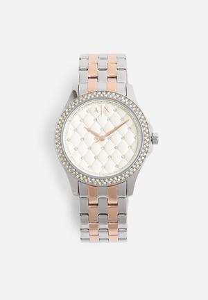 Armani Exchange Dress Watch Rose Gold & Silver