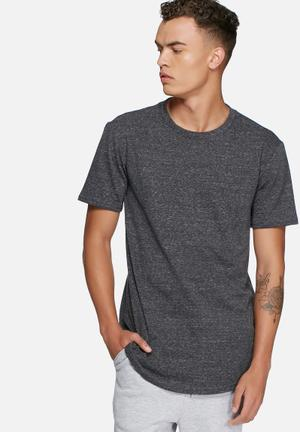 Basicthread Loopback Curved Hem Tee T-Shirts & Vests Charcoal