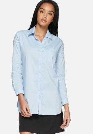 Dailyfriday Cotton Poplin Shirt  Light Blue