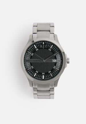 Armani Exchange Hampton Watches Silver & Black