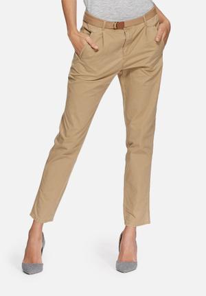 Vero Moda Bonita Chino Trousers Stone