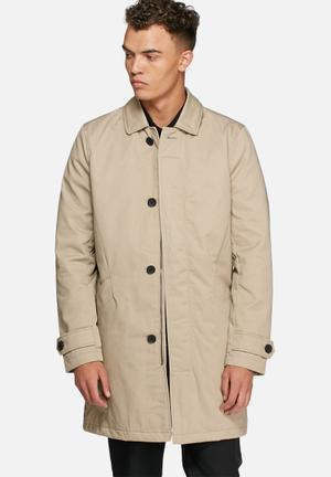 Only & Sons Jonathan Trenchcoat Beige