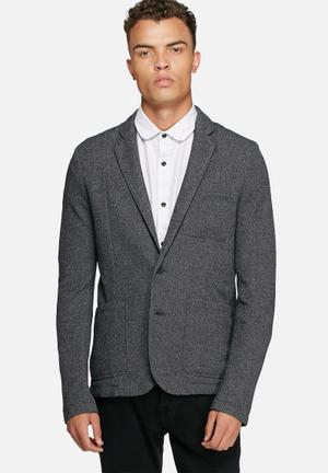 Only & Sons Justis Blazer Jackets & Coats Charcoal