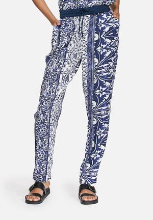 Vero Moda First Elegant Pants Trousers Navy & White