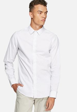 Jack & Jones Premium New Castle Slim Shirt White & Blue