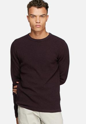 Jack & Jones Premium Steve Knit Knitwear Burgundy