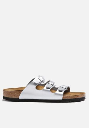 Birkenstock Florida Sandals & Flip Flops Silver