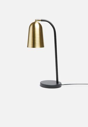Sixth Floor Bendi Table Lamp Lighting Powder Coated Metal