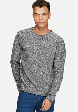 Jack & Jones Vintage Veli Sweater Knitwear Black & White