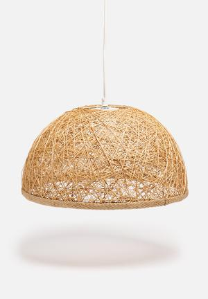 Sixth Floor Bowl Pendant Lighting Sea String, Fabric & Metal