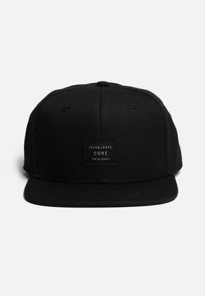 Jack & Jones Footwear & Accessories Basic Snapback Cap Headwear Black