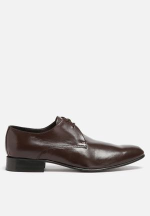 Watson Shoes Leo Leather Derby Formal Shoes Borwn