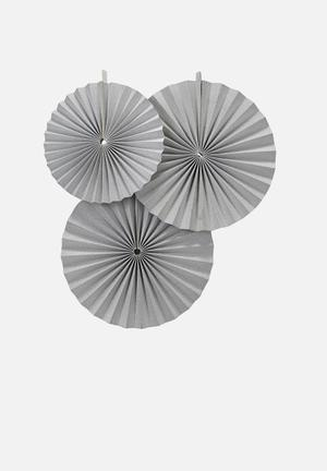 Ginger Ray Circle Fan Decorations Partyware Paper