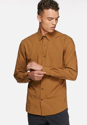 Selected Homme Travis Dublin Slim Shirt  Camel