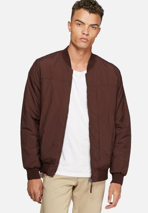 Selected Homme Feel Bomber Jackets Brown