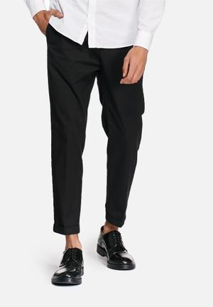 Selected Homme Kim Anti Cropped Chinos Pants Black