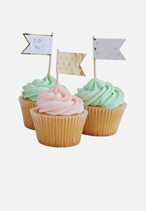 Ginger Ray Polka-dot Cupcake Sticks Partyware Paper