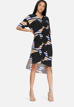 Milly silk shirt dress